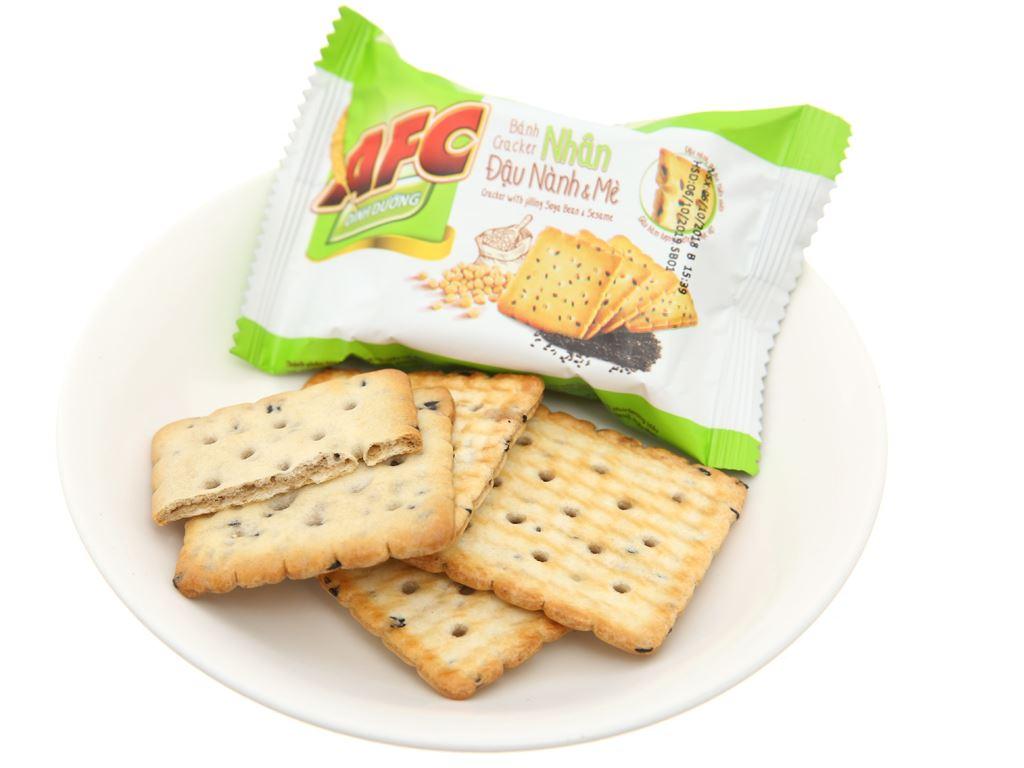 Bánh cracker nhân đậu nành và mè AFC Dinh Dưỡng hộp 168g 4