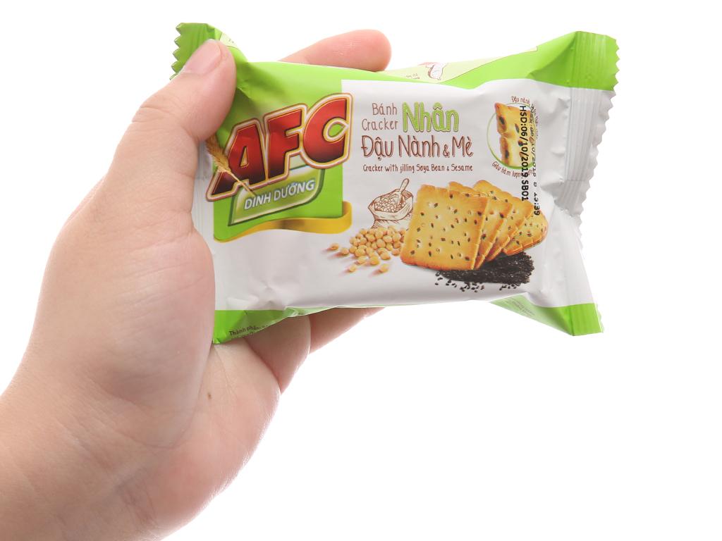 Bánh quy dinh dưỡng nhân đậu nành và mè AFC hộp 168g 5