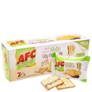 Bánh quy dinh dưỡng nhân đậu nành và mè AFC hộp 168g