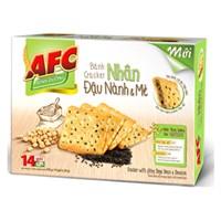 Bánh quy AFC Cracker nhân Đậu nành, Mè hộp 336g (14 gói)