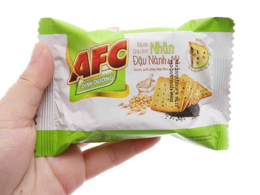 Bánh quy dinh dưỡng nhân đậu nành và mè AFC hộp 336g 4