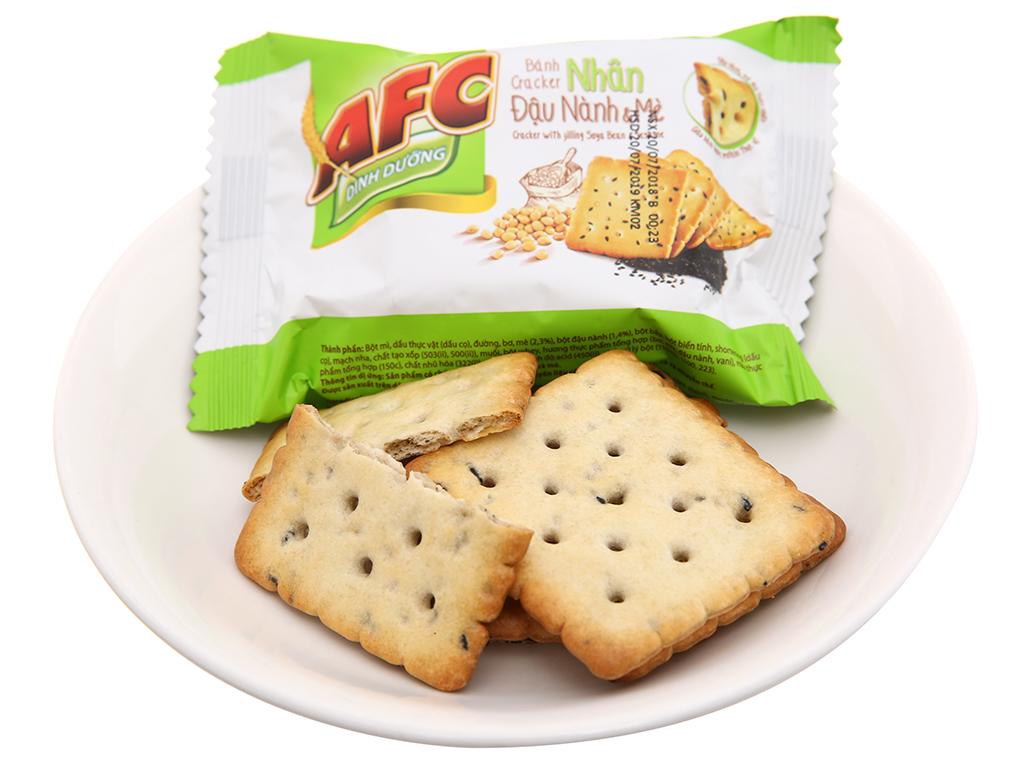 Bánh quy dinh dưỡng nhân đậu nành và mè AFC hộp 336g 5