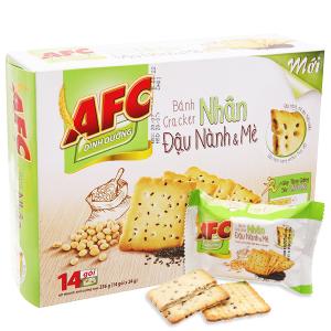 Bánh quy dinh dưỡng nhân đậu nành và mè AFC hộp 336g