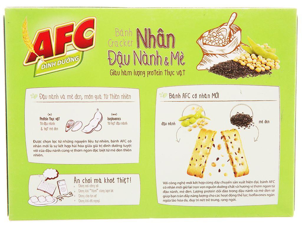 Bánh quy nhân đậu nành và mè AFC Dinh Dưỡng hộp 336g 2
