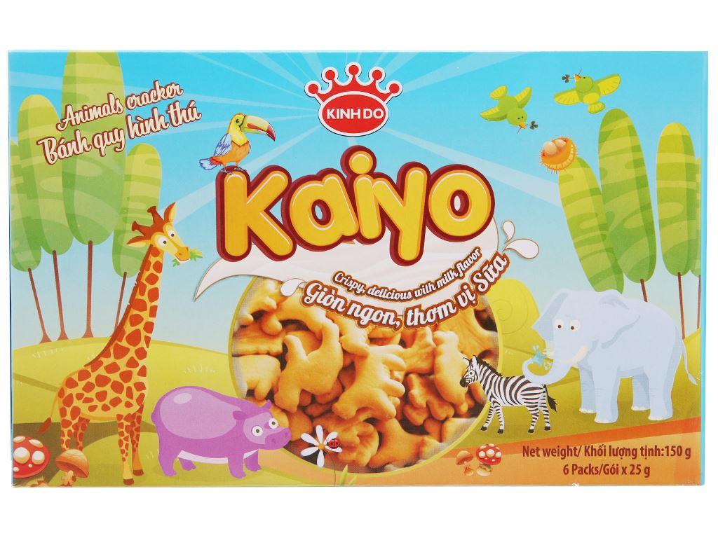 Bánh quy sữa hình thú Kinh Đô Kaiyo hộp 150g 2