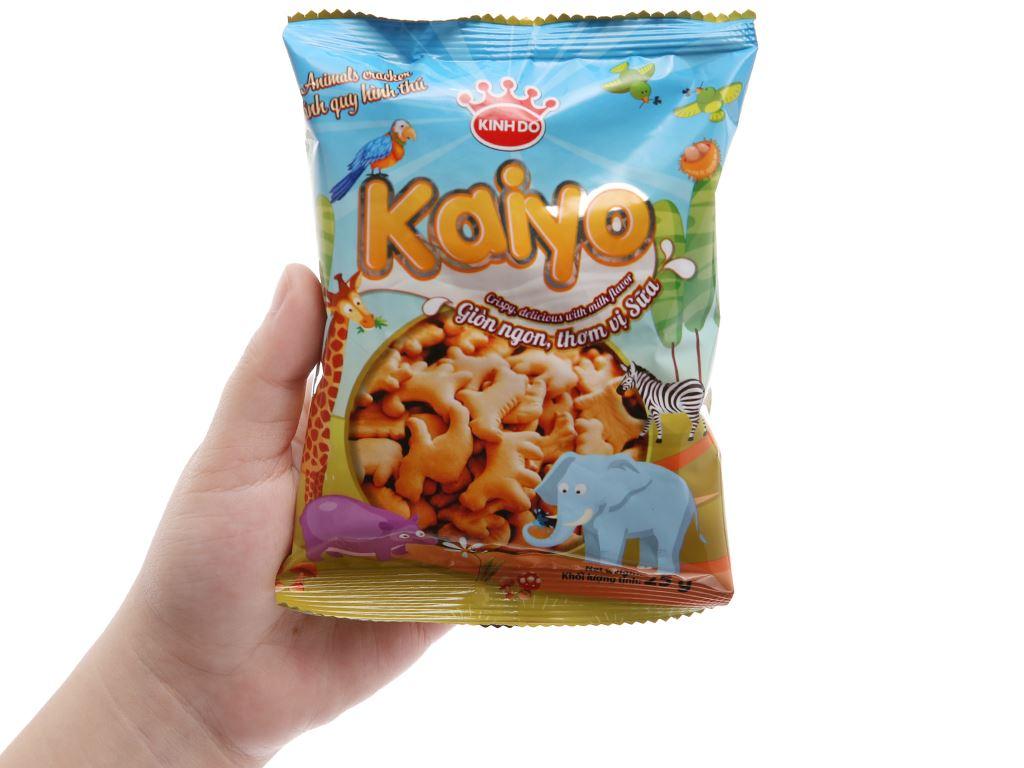 Bánh quy sữa hình thú Kinh Đô Kaiyo hộp 150g 5