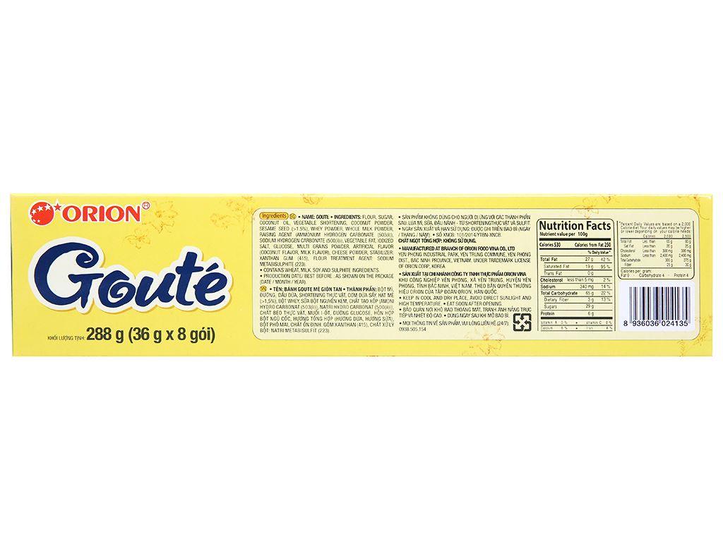 Bánh quy mè Gouté hộp 288g 2