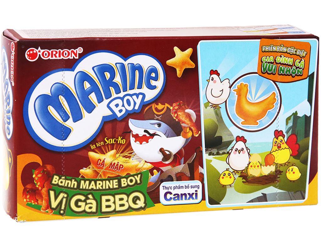Bánh cá vị gà BBQ Orion Marine Boy hộp 35g 1