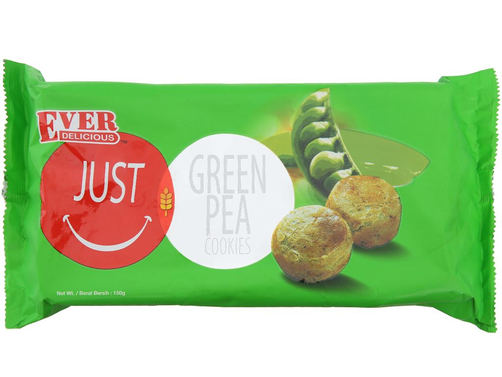 Bánh Green Pea Cookies Just Ever Delicious gói 150g 1