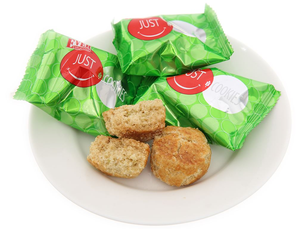 Bánh Green Pea Cookies Just Ever Delicious gói 150g 3