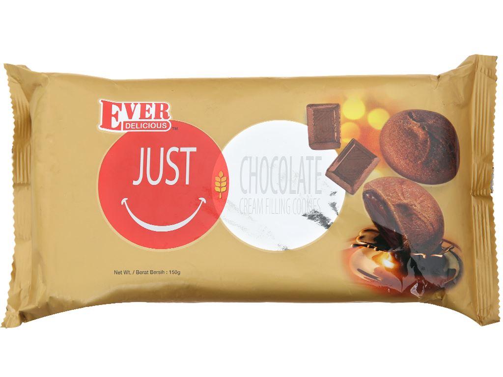 Bánh quy nhân kem socola Ever Delicious Just gói 150g 1