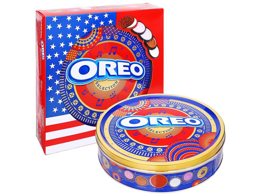 Bánh quy 4 loại nhân kem Oreo hộp 352.8g 2