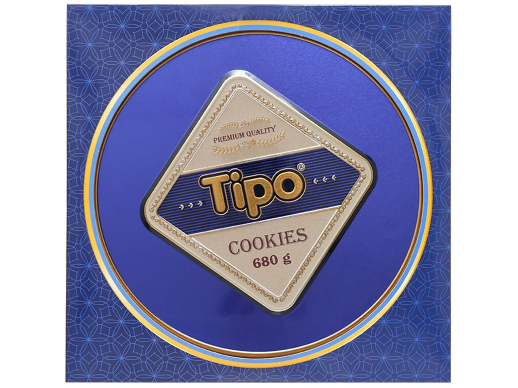 Bánh quy bơ cacao Tipo Cookies hộp 680g 5
