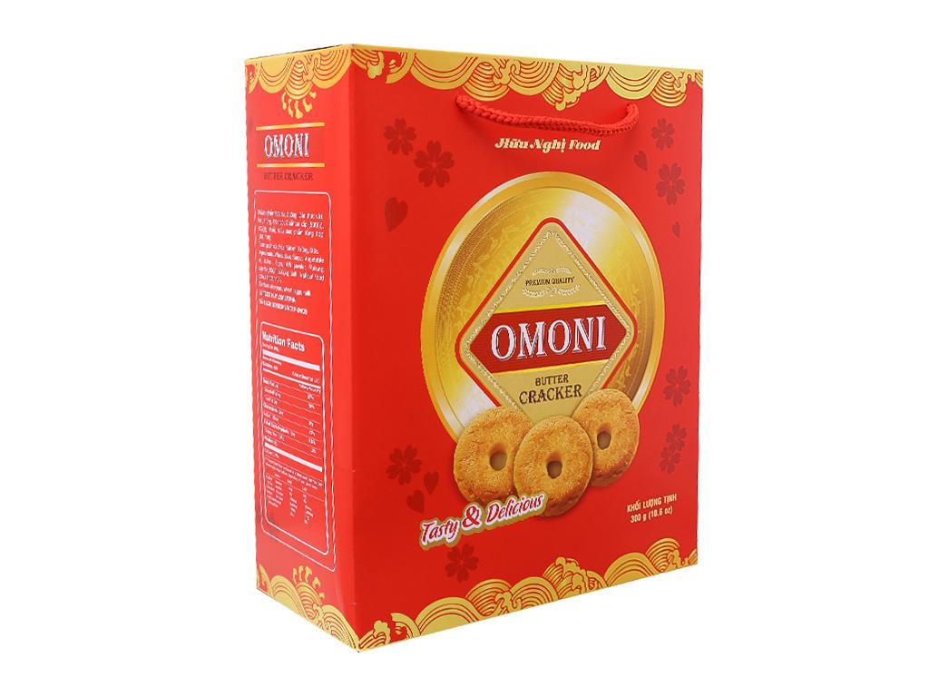 Bánh quy Bơ Omoni Cracker 300g 2