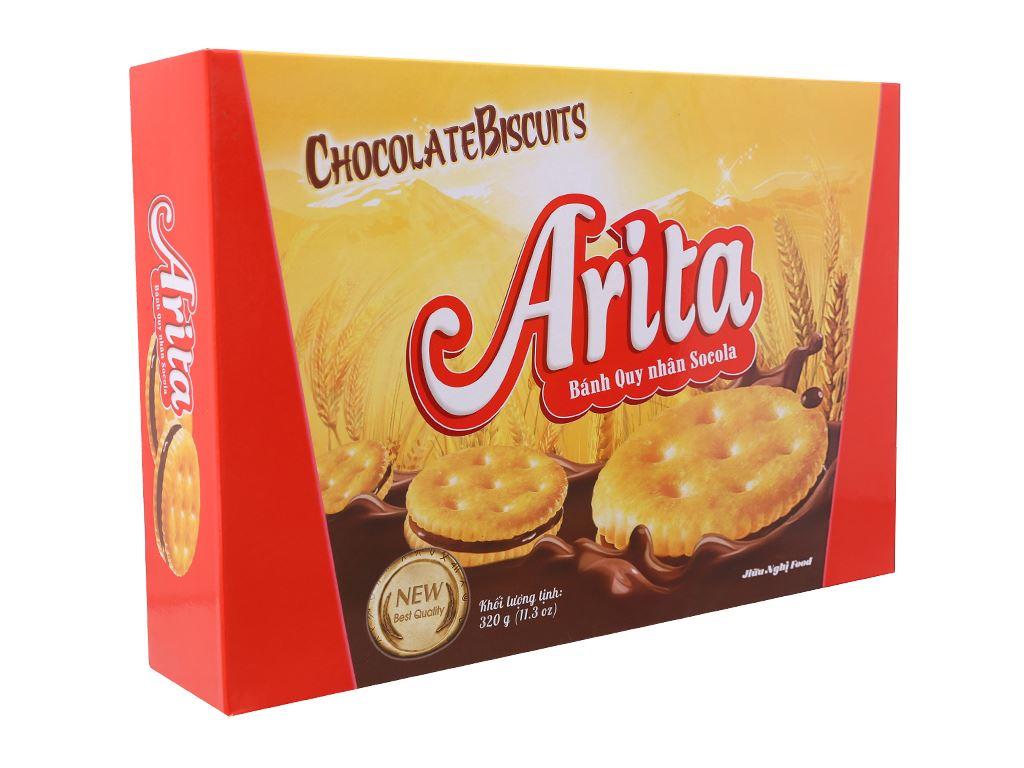 Bánh quy ngọt Arita kem socola 320g 2