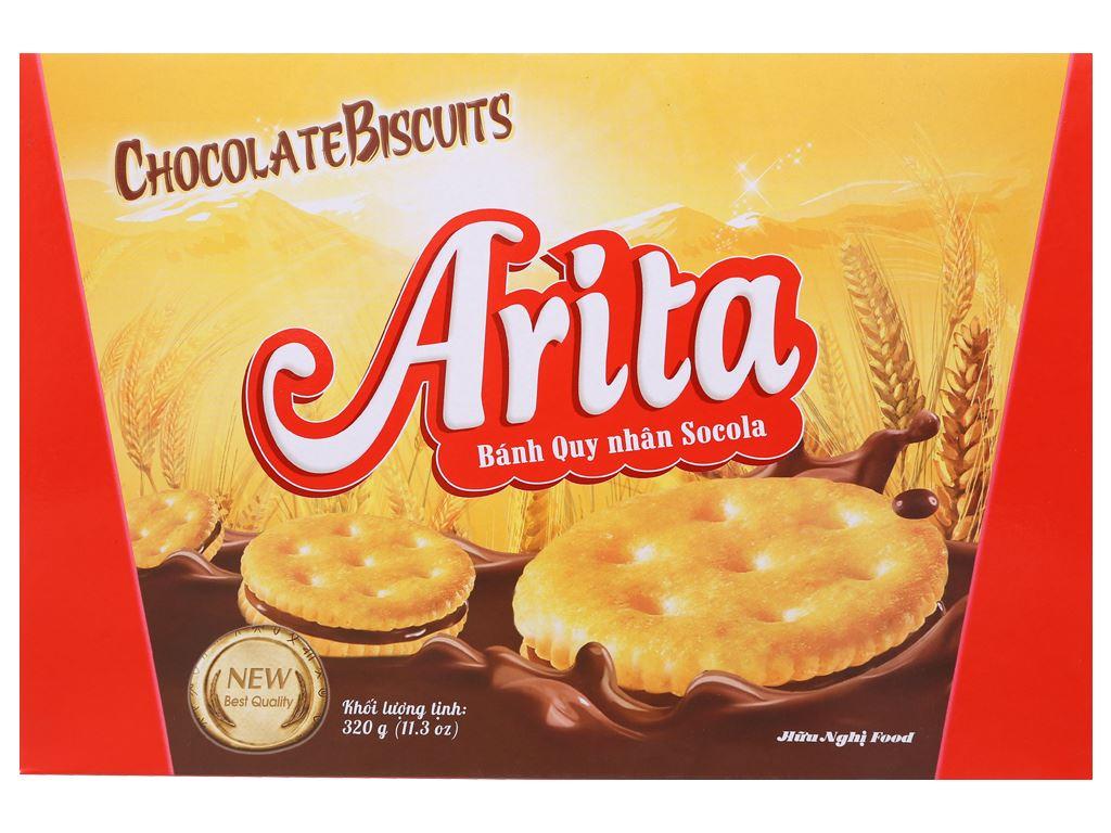 Bánh quy ngọt Arita kem socola 320g 3