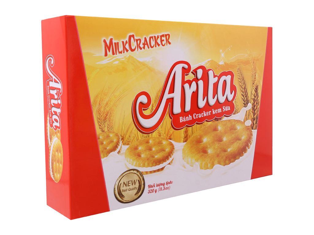 Bánh cracker kem sữa Arita hộp 320g 2