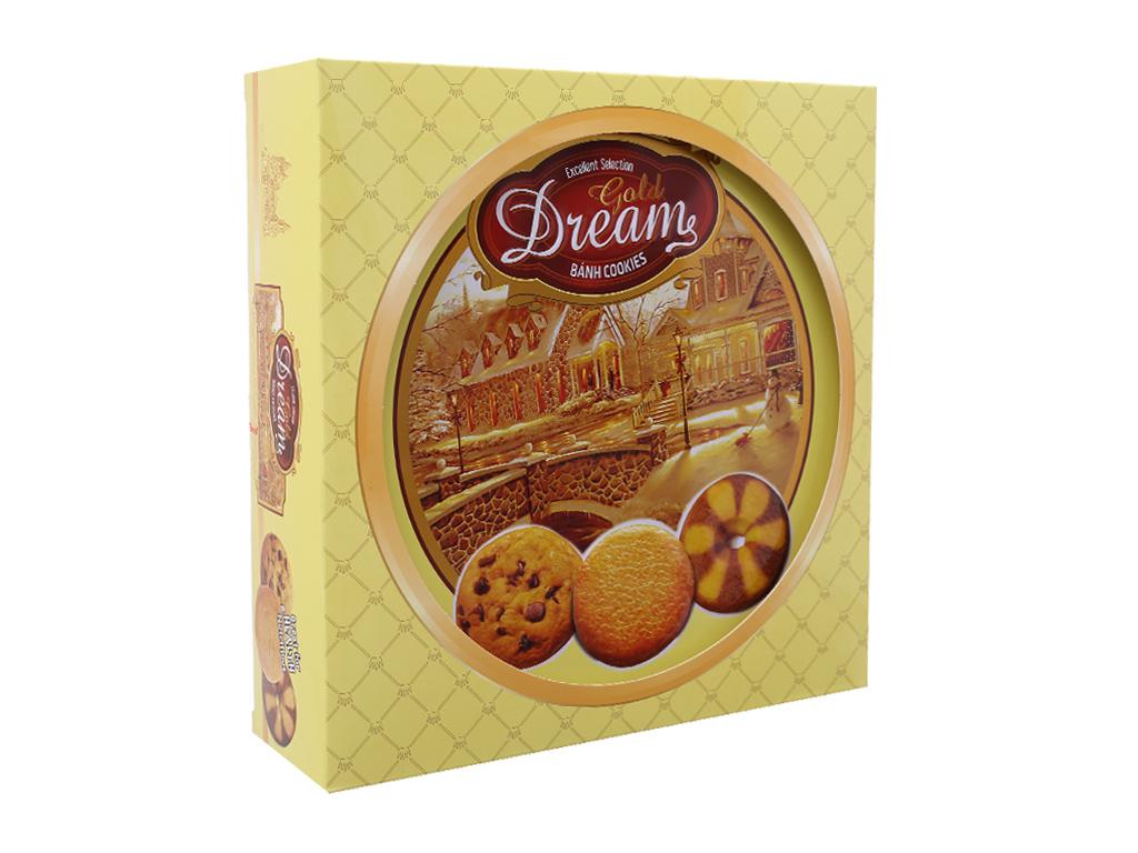 Bánh quy ngọt Gold Dreams bơ và socola 400g 2