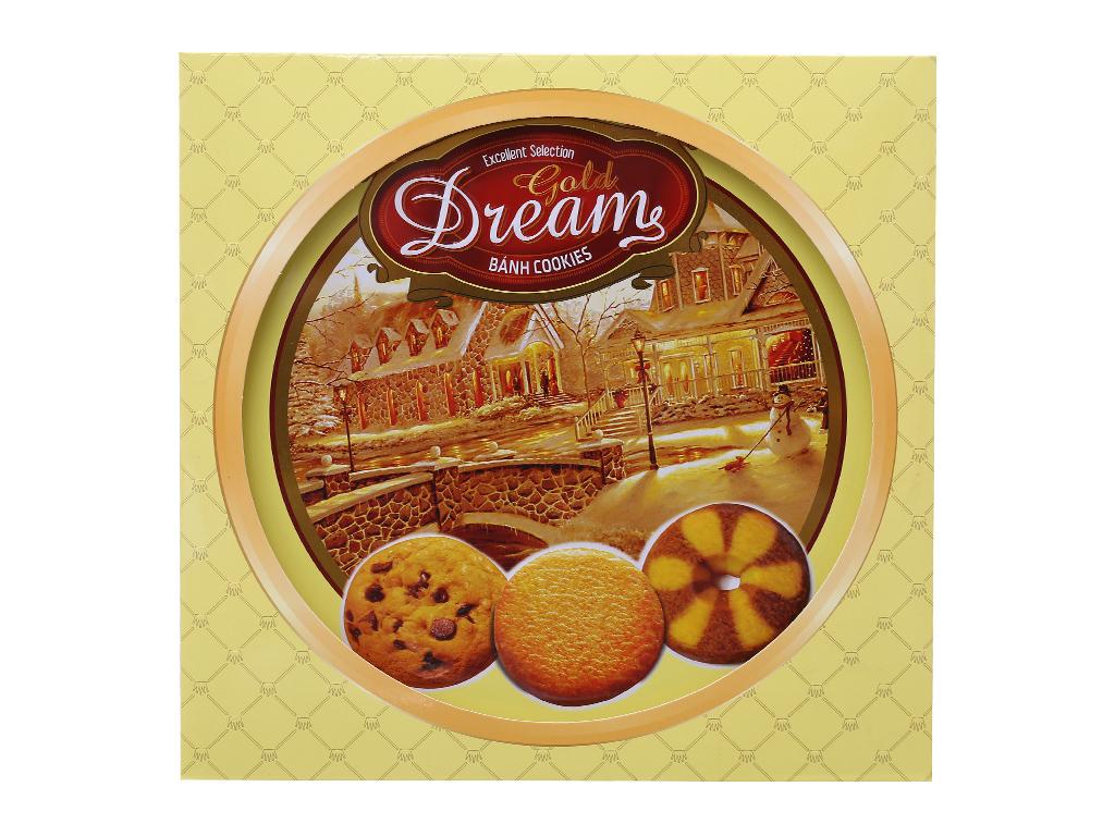 Bánh quy ngọt Gold Dreams bơ và socola 400g 3