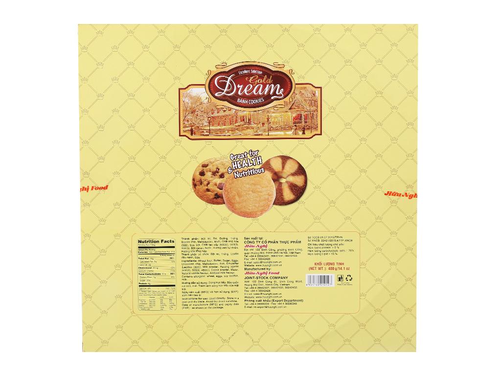 Bánh quy ngọt Gold Dreams bơ và socola 400g 4