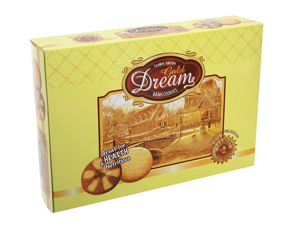 Bánh quy bơ Gold Dreams hộp 308g 2