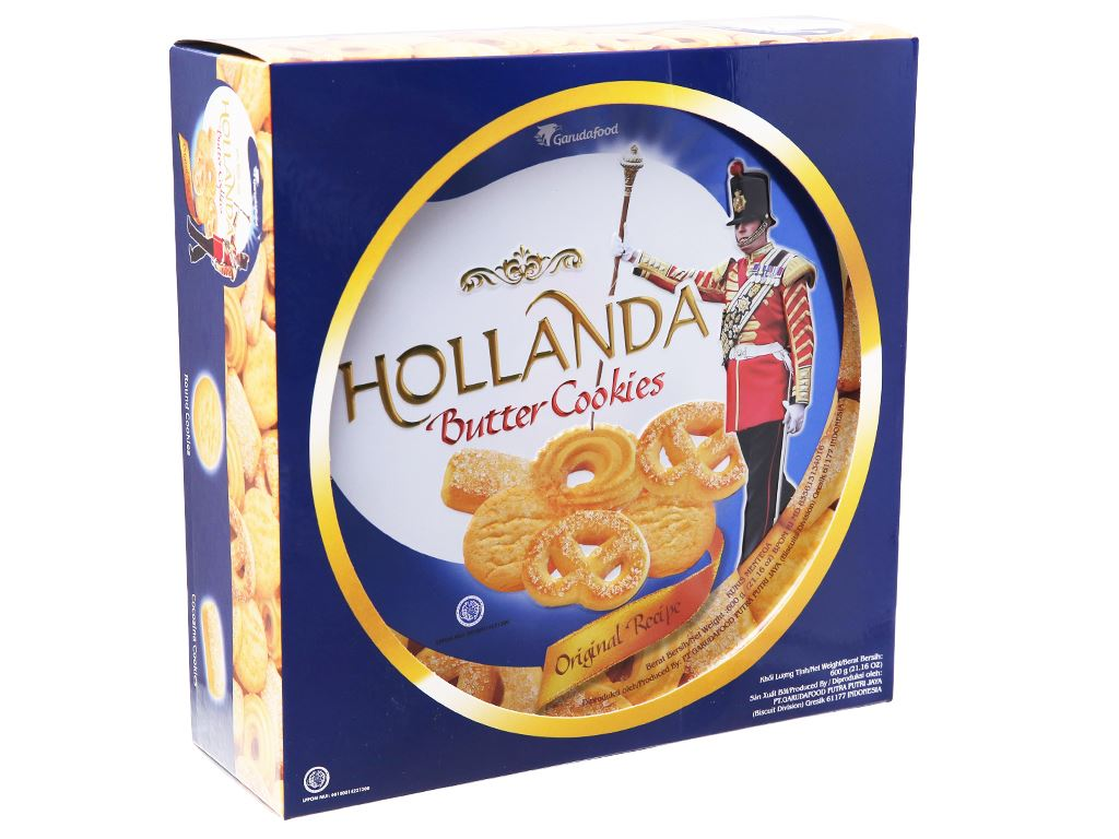 Bánh quy bơ Hollanda GarudaFood hộp 600g 1