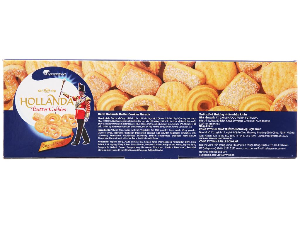 Bánh quy bơ Hollanda GarudaFood hộp 600g 2