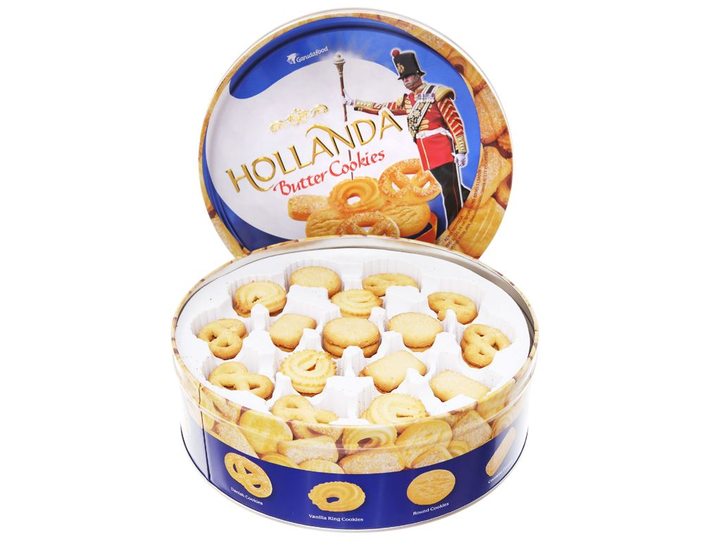 Bánh quy bơ Hollanda GarudaFood hộp 600g 3