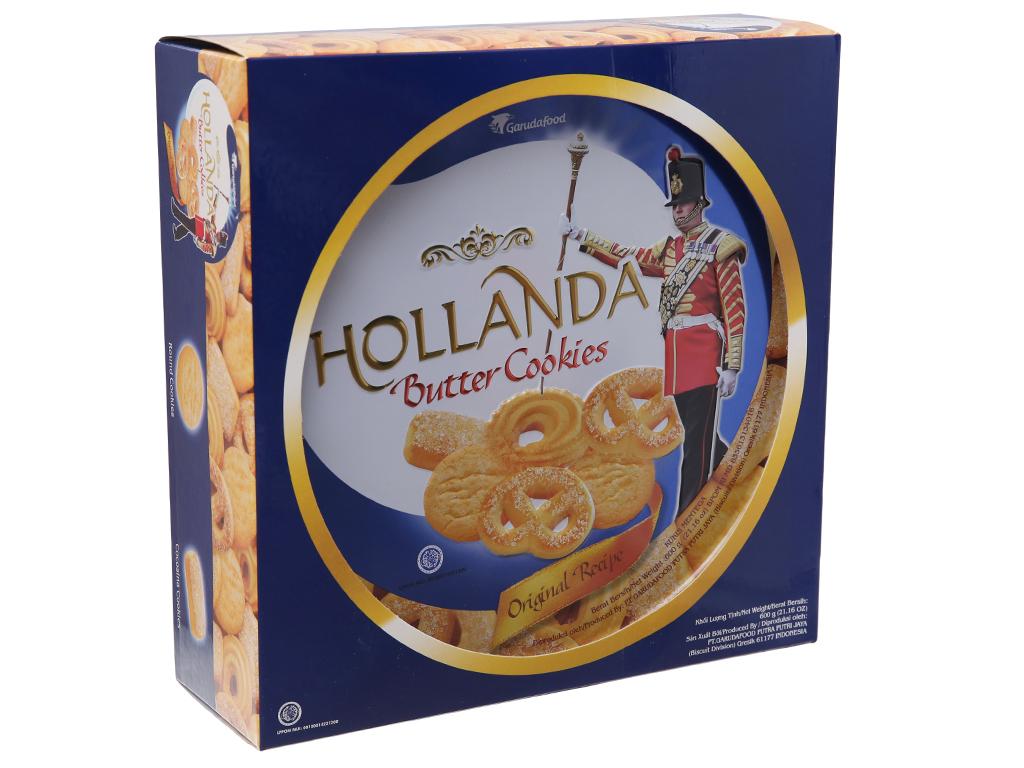 Bánh quy bơ GarudaFood Hollanda hộp 600g 1
