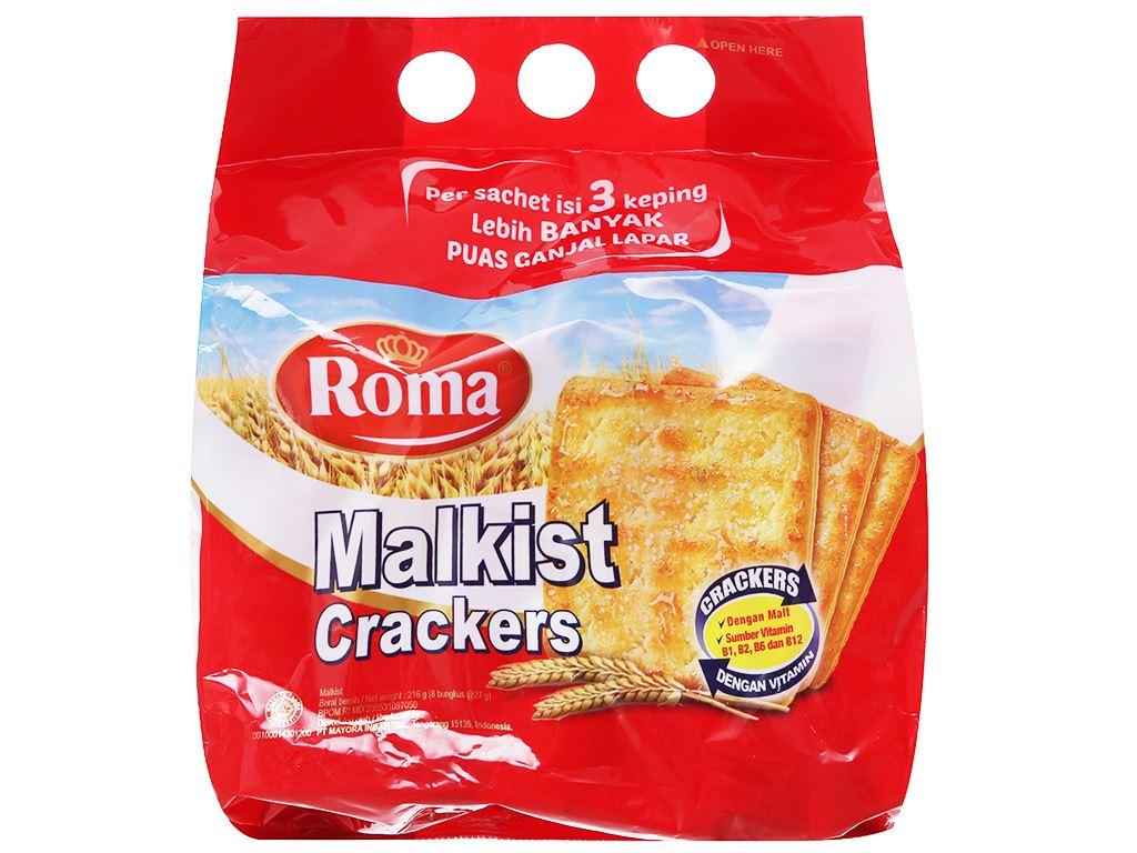 Bánh Malkist Crackers Roma gói 216g 2