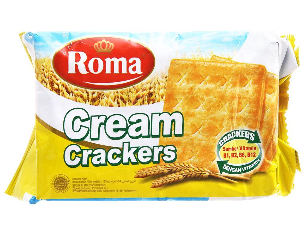 Bánh Cream Crackers Roma gói 135g 1