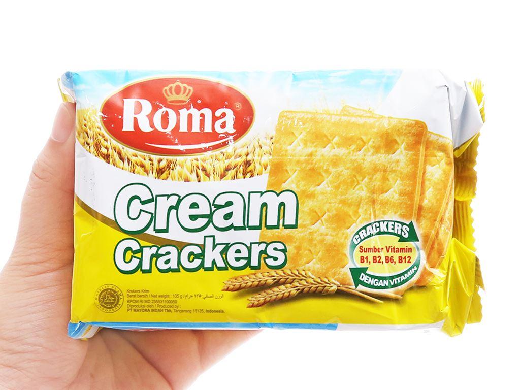 Bánh Cream Crackers Roma gói 135g 3