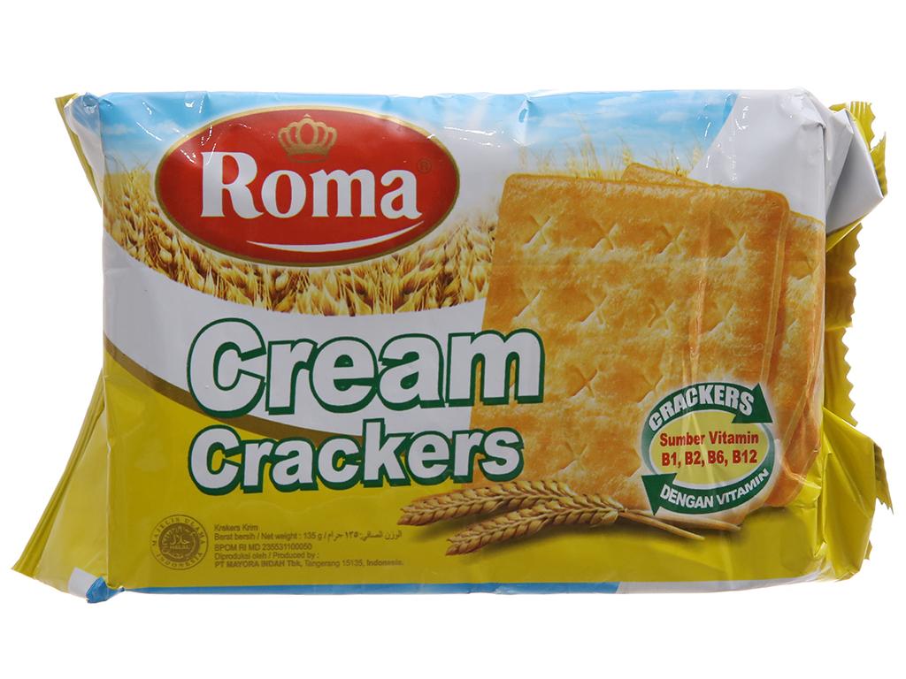 Bánh quy Roma Cream Crackers gói 135g 1