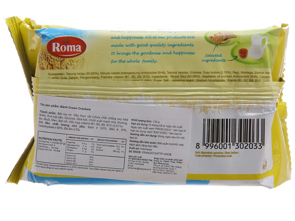 Bánh quy Roma Cream Crackers gói 135g 2