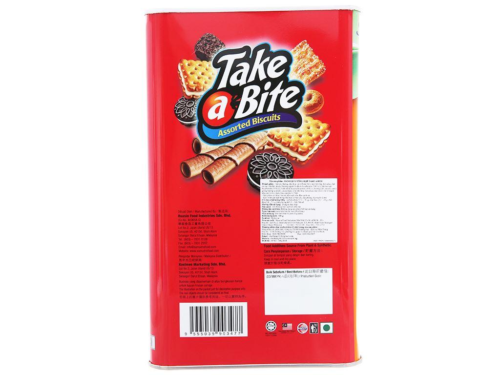 Bánh quy tổng hợp Samudra Take a Bite hộp 600g 2