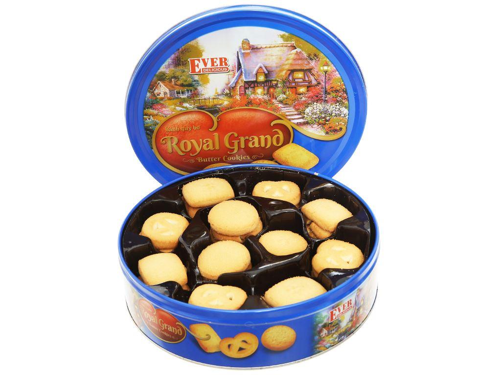 Bánh quy bơ Royal Grand Ever Delicious hộp xanh 500g 4