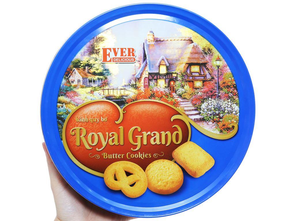 Bánh quy bơ Royal Grand Ever Delicious hộp xanh 500g 3