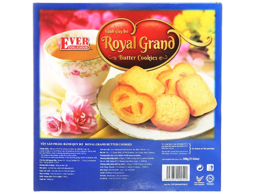 Bánh quy bơ Royal Grand Ever Delicious hộp xanh 500g 2