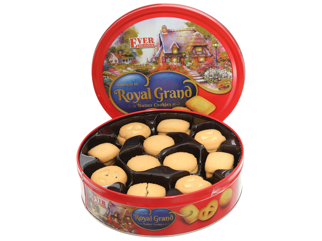 Bánh quy bơ Royal Grand Ever Delicious Red hộp 500g 1
