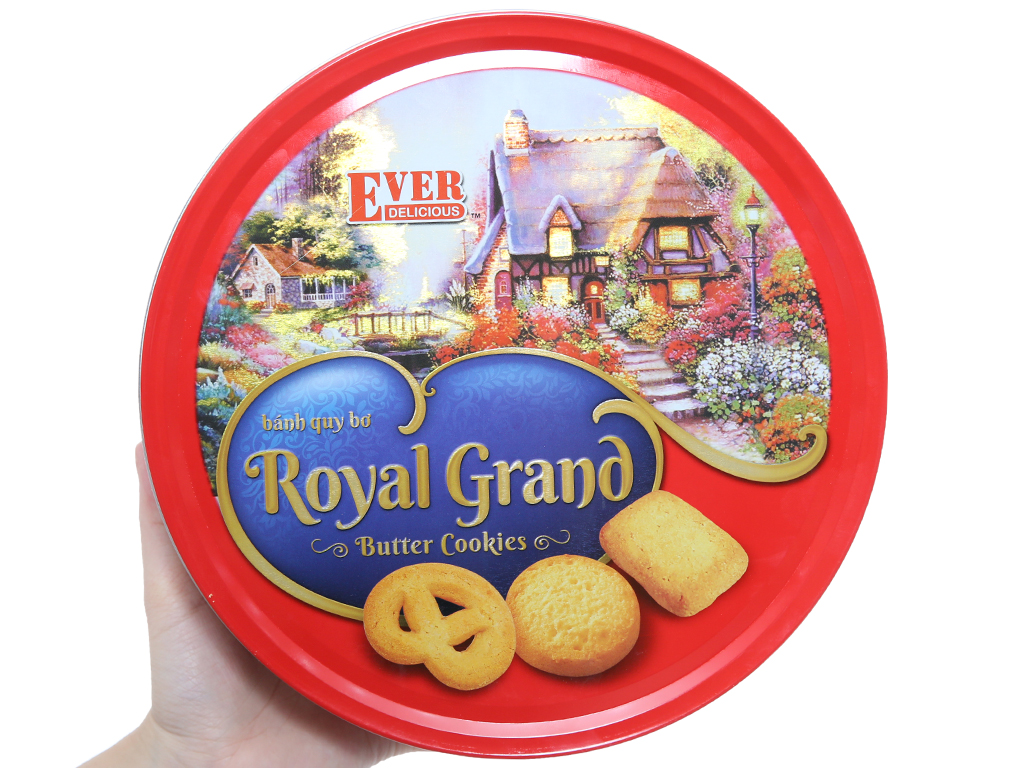 Bánh quy bơ Royal Grand Ever Delicious Red hộp 500g 3