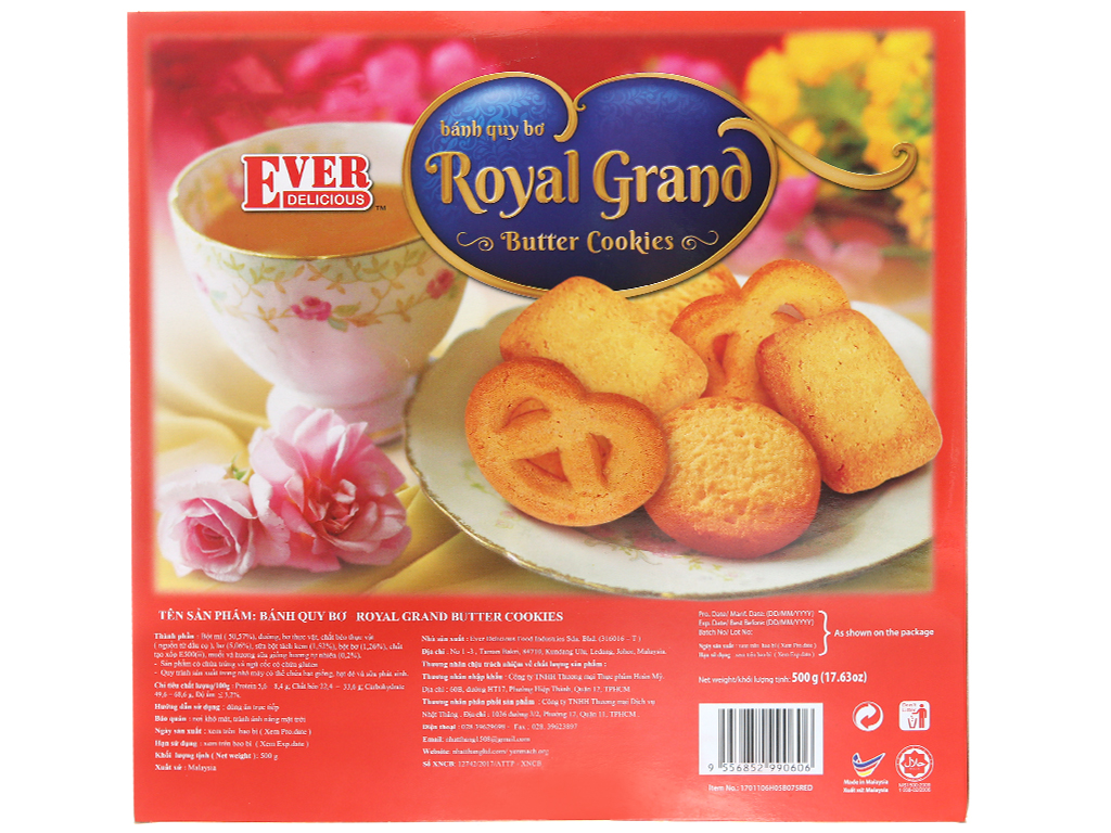 Bánh quy bơ Royal Grand Ever Delicious Red hộp 500g 4