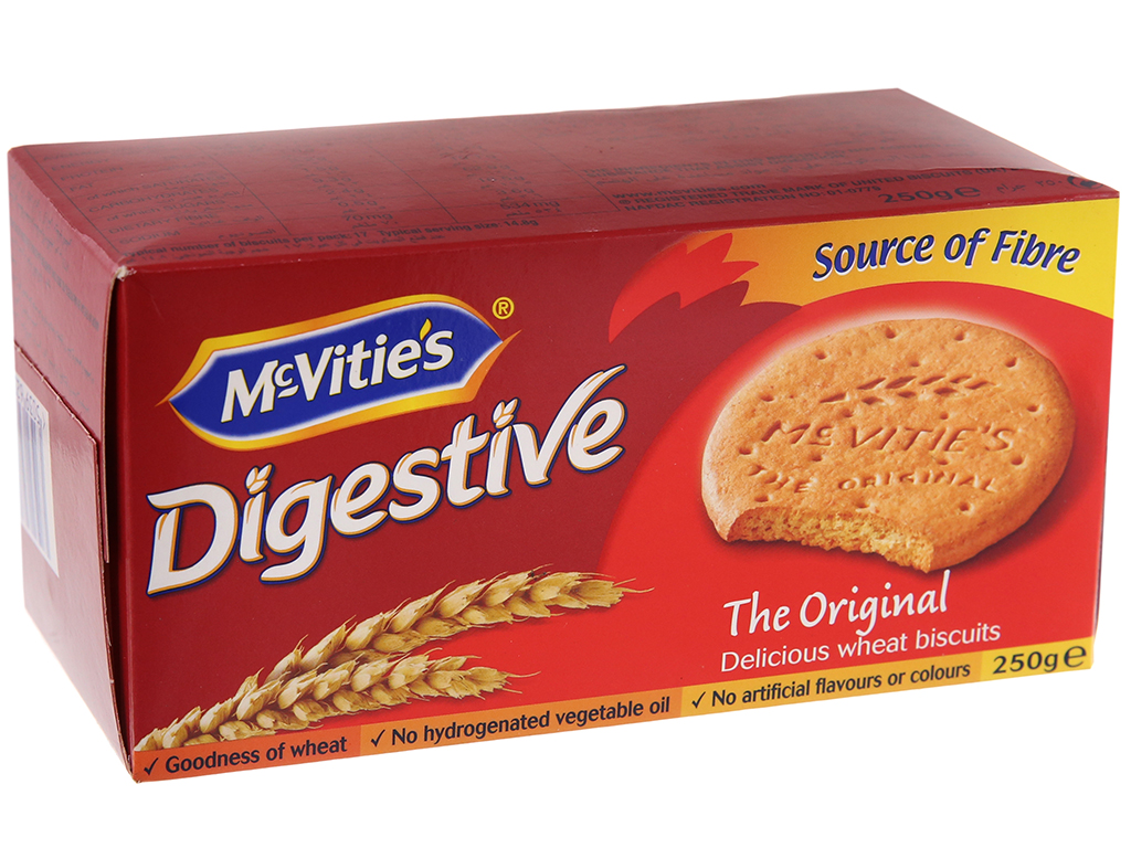 Bánh quy lúa mì nguyên cám truyền thống McVitie's Digestive hộp 250g 2