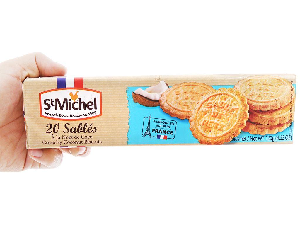 Bánh quy dừa StMichel Sablés gói 120g 3