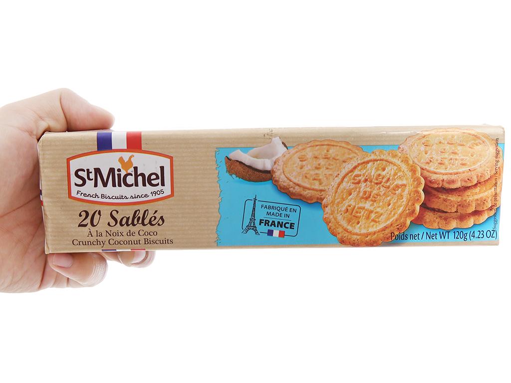 Bánh quy dừa StMichel Sablés hộp 120g 4