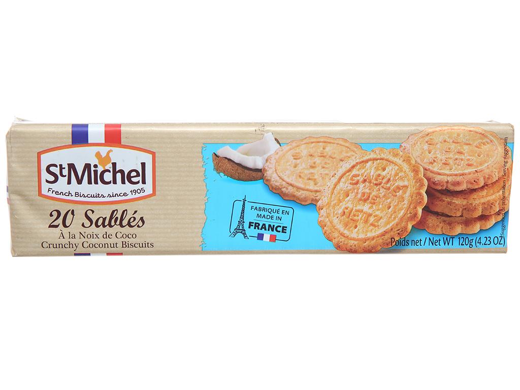 Bánh quy dừa StMichel Sablés hộp 120g 1