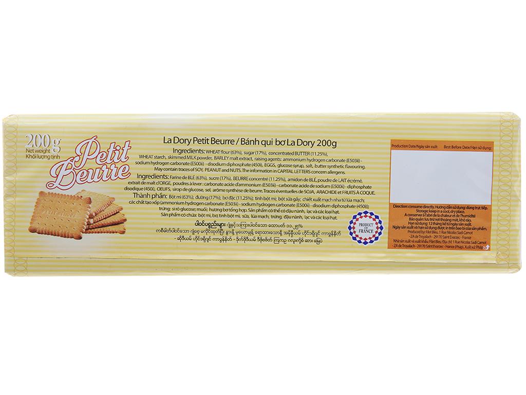 Bánh quy bơ La Dory Petit Beurre hộp 200g 2