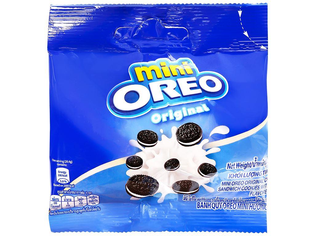 Bánh quy Oreo Mini hương vani hộp 230g 9