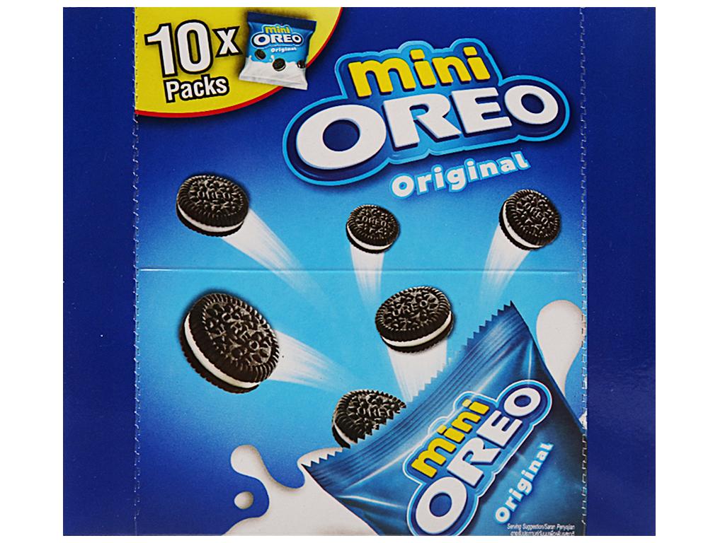 Bánh quy Socola nhân kem hương vani Oreo Mini 230g 2