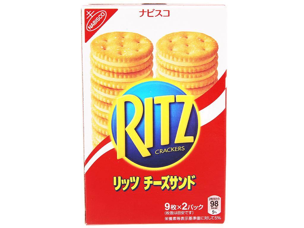 Bánh quy kẹp kem phô mai Ritz hộp 160g 2