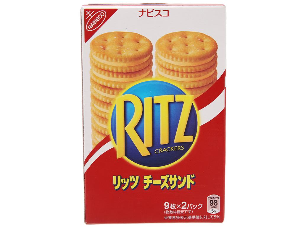 Bánh quy Kẹp kem phô mai Ritz Crackers hộp 160g 1